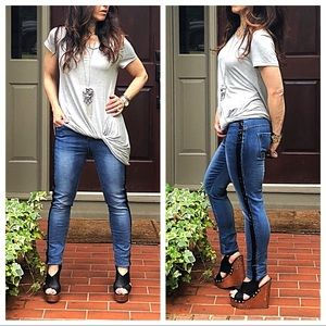 Denim - PARIS side stripe sequins jeans